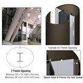 CRL Custom Oil Rubbed Bronze Premier Series Elliptical Column Covers Two Panels Opposing