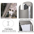 CRL Custom Brushed Stainless Premier Series Elliptical Column Covers Two Panels Opposing