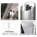 CRL Custom Polished Stainless Premier Series Elliptical Column Covers Two Panels Opposing