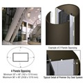 CRL Custom Oil Rubbed Bronze Premier Series Elliptical Column Covers Four Panels Opposing