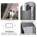 CRL Custom Mica Platinum Premier Series Elliptical Column Covers Four Panels Opposing
