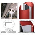CRL Custom Newlar Painted Premier Series Elliptical Column Covers Four Panels Opposing