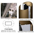 CRL Custom Polished Bronze Premier Series Elliptical Column Covers Four Panels Opposing