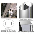 CRL Custom Polished Stainless Premier Series Elliptical Column Covers Four Panels Opposing