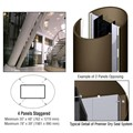 CRL Custom Brushed Bronze Premier Series Elliptical Column Covers Four Panels Staggered