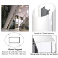 CRL Custom Bone White Premier Series Elliptical Column Covers Four Panels Staggered