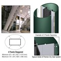 CRL Custom Kynar Painted Premier Series Elliptical Column Covers Four Panels Staggered