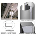 CRL Custom Non-Directional Stainless Premier Series Elliptical Column Covers Four Panels Staggered