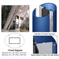 CRL Custom Powder Painted Premier Series Elliptical Column Covers Four Panels Staggered