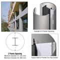 CRL Custom Brushed Stainless Premier Series Round Column Covers Two Panels Opposing