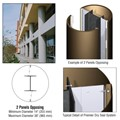 CRL Custom Polished Bronze Premier Series Round Column Covers Two Panels Opposing