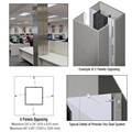 CRL Custom Brushed Stainless Premier Series Square Column Covers Four Panels Opposing
