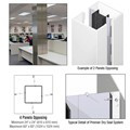 CRL Custom Bone White Premier Series Square Column Covers Four Panels Opposing