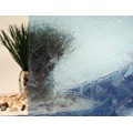"Blue Atlantis Cut Glass Static Cling Window Film, 35"" Wide x 6.5 ft"