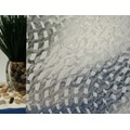 "Clear Rippled Wavey Squares Static Cling Window Film, 36"" Wide x 1 yd.  Sold by the yard as one continuous roll."
