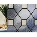 "Blue Leaded Glass Static Cling Window Film, 36"" Wide x 1 yd.  Sold by the yard as one continuous roll."