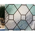 "Green Leaded Glass Static Cling Window Film, 36"" Wide x 10 ft"