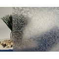 "Clear Rippled Waves Static Cling Window Film, 36"" Wide x 1 yd.  Sold by the yard as one continuous roll."