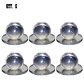 Clear Acrylic Small Ball Stick-On Mirror Knobs - Pack of 6