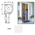 "Retractable Screen System for Single Doors, White, 42"" x 84"""