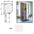 "Retractable Screen System for Single Doors, White, 60"" x 96"""