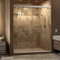 DreamLine SHDR-1348760-04 Charisma 44 - 48 in. W x 76 in. H Bypass Sliding Shower Door, Brushed Nickel Finish