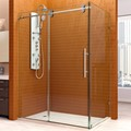 DreamLine SHEN-60366012-07 ENIGMA 36 x 60 x 79 Frameless Sliding Shower Enclosure, Brushed Stainless Steel Finish