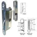 "STB Sliding Glass Patio Door Lock, Mortise Type, Diagonal Hub, 3-7/8"" Screw Holes with Keeper"