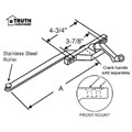 "STB Casement Window Operator, Right Hand, Front Mount, Stainless Steel Roller, Chestnut Bronze, 6"" Long Arm"