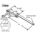"STB Casement Window Operator, Left Hand, Front Mount, Stainless Steel Roller, Chestnut Bronze, 6"" Long Arm"