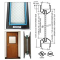 "CRL 6"" x 27"" Door Vision Lite with Wire Glass, Bronze Powder Coat Finish"