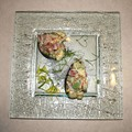 Venetian Cast Glass Square Platter - Bird Nest Edge Series - Small