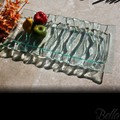 Venetian Cast Glass Rectangle Platter - Deep Safari Series - Small