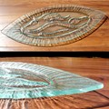 Venetian Cast Glass Oval Platter - Oval Flame Series