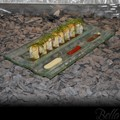 Venetian Cast Glass Sushi Platter - Triple In-Line Series
