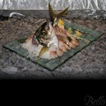 Venetian Cast Glass Sushi Platter - Raised Ridge Series