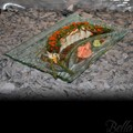 Venetian Cast Glass Sushi Platter - Inset Arch Series