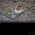 Venetian Cast Glass Sushi Platter - Triangle Ends Series