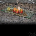 Venetian Cast Glass Sushi Platter - Raised Arch Series