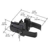 Crl Black Magnetic Z Lokk Latch Gate Lock Zl3bl