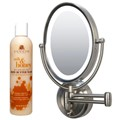 Zadro LEDOVLW410 LED Oval Wall Mounted Mirror and Cuccio Milk & Honey Body Butter Wash