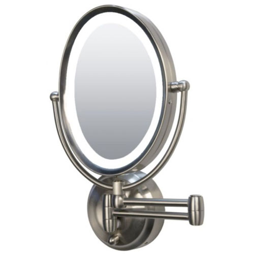 Zadro LEDOVLW410 LED Lighted 10X-1X Oval Wall Mounted Makeup Mirror at Sears.com