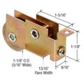 "CRL 1-1/8"" Steel Sliding Glass Door Roller with 9/16"" Wide x 1-1/8"" High Housing - Package"