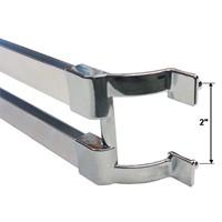 30 Quot Chrome Sliding Shower Door Double Towel Bar With