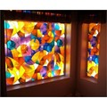 "Fish Stained Glass Privacy Window Film 36"" Wide x 28"" long"