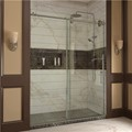 DreamLine SHDR-60607912-07 ENIGMA 56-60 x 79 Frameless Sliding Shower Door, Brushed Stainless Steel Finish