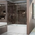 DreamLine SHDR-61606210-07 ENIGMA-X 56-59 x 62 Fully Frameless Tub Door, Brushed Stainless Steel Finish