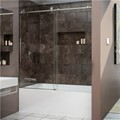DreamLine SHDR-61606210-08 ENIGMA-X 56-59 x 62 Fully Frameless Tub Door, Polished Stainless Steel Finish