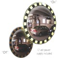"""The Flasher"" 18"" Convex Mirror with Lighted Safety Border"