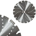 "Heavy Duty Laser 12"" Segmented Blade with 15mm Jumbo Rim for Masonry, Stone, Brick, and Block"